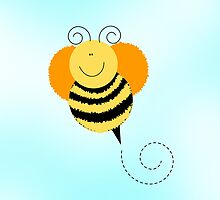 Bee Hop Bumble Bee iPhone Case by JessDesigns