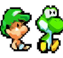 Baby Luigi and Baby Yoshi by cattrumpet