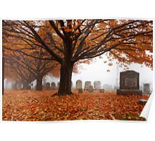 Autumn in the graveyard5 Poster