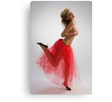 Dancing girl in red skirt Canvas Print