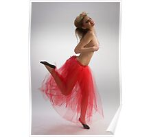 Dancing girl in red skirt Poster