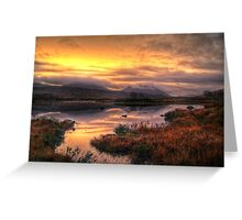 Golden Sunrise Over Loch Ba Greeting Card
