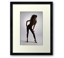 Woman in black Framed Print