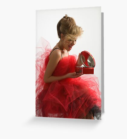 Present for beautiful girl Greeting Card