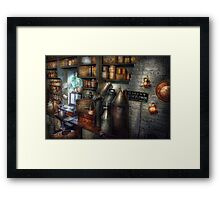 Pharmacy - Tools - August flowers Framed Print