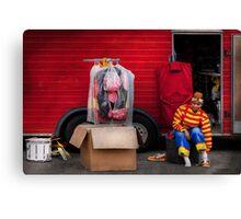 Clown - Wardrobe change Canvas Print