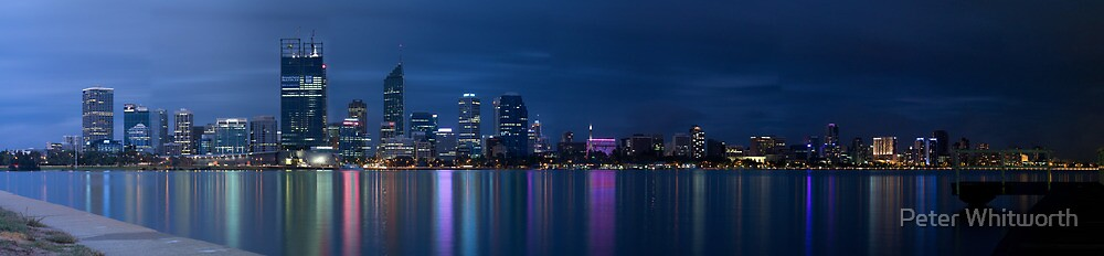 Perth City after Sunset by Peter Whitworth