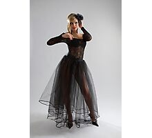 Sexy girl in diaphanous dress Photographic Print