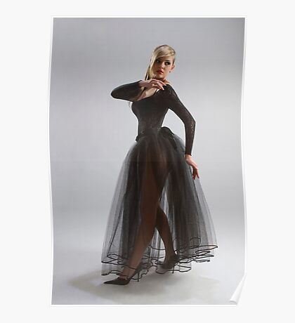 Sexy girl in diaphanous dress Poster