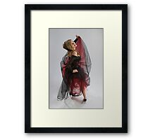 Beautiful girl in diaphanous dress Framed Print