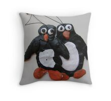 SNOW PENGUIN 22 - na' i wanna be in front move over Throw Pillow