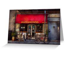 Cafe - NY - Chelsea - Mappamondo  Greeting Card