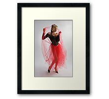 Beautiful girl in black and red Framed Print