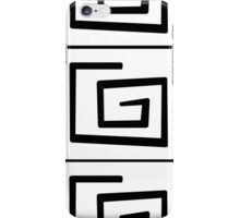 Black and white lines. iPhone Case/Skin