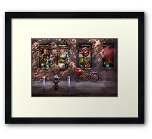 Bike - NY - Chelsea - The delivery bike Framed Print