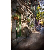 Bike - NY - Greenwich Village - The green district Photographic Print