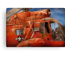 Transportation - Helicopter - Coast guard helicopter Canvas Print