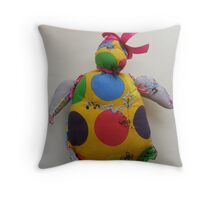 MAMMA PENGUIN 3 - & im still cute enough to tickle my belly  Throw Pillow