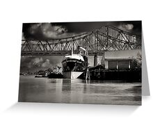 Moored Portside Greeting Card