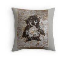 SNOW PENGUIN 1 - Happy Tootsie  Throw Pillow