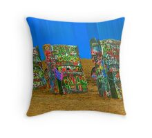 Cadillac Ranch - Amarillo Throw Pillow