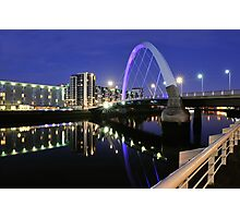 Glasgow, Squinty Bridge Photographic Print