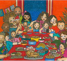 Family Christmas Meal by Laura Hutton