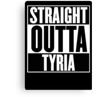 Straight Outta Tyria T Shirt Canvas Print