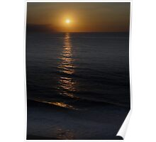 Sunset at the beach of Puerto Vallarta Poster
