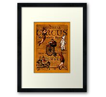 At the Circus Framed Print