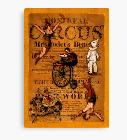 At the Circus Canvas Print