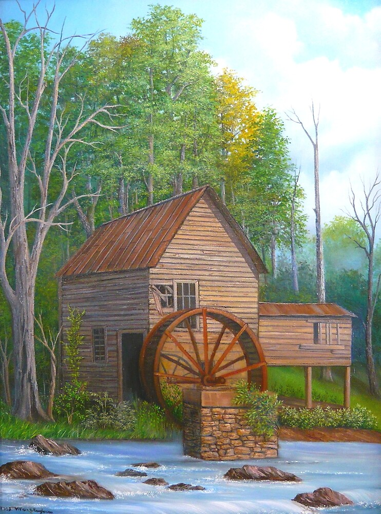 Loudermilk Gristmill in Habersham County Georgia by Vivian Eagleson