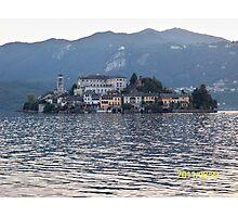 IL LAGO D'ORTA - ISOLA DI SAN  GIULIO - ITALY- EUROPA- 4500 visualizz.settembre 2013 -featured in italy 500+ & RB EXPLORE 14 NOVEMBRE 2011 --- Photographic Print