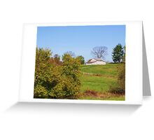 AN OLD INDIANA BARN IN A FIELD Greeting Card