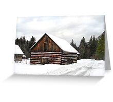 Pioneer Barn - Winter Greeting Card