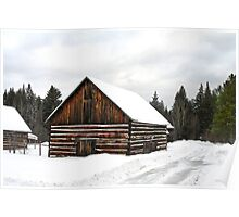 Pioneer Barn - Winter Poster