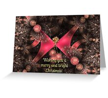 """""""Merry and Bright"""" Christmas Card Greeting Card"""
