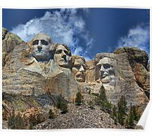 Mount Rushmore National Memorial In High Definition Poster