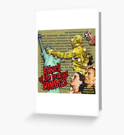 Attack of the Tea Bag Zombies Greeting Card