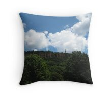 Blue Skies Over East Rock Throw Pillow