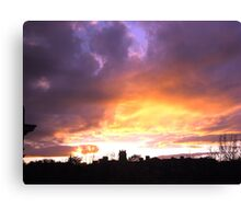 CHURCH AT SUNSET Canvas Print