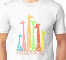 Giraffe silhouettes  Unisex T-Shirt
