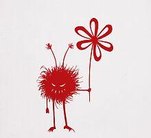 Red Evil Flower Bug IPhone Case by Boriana Giormova