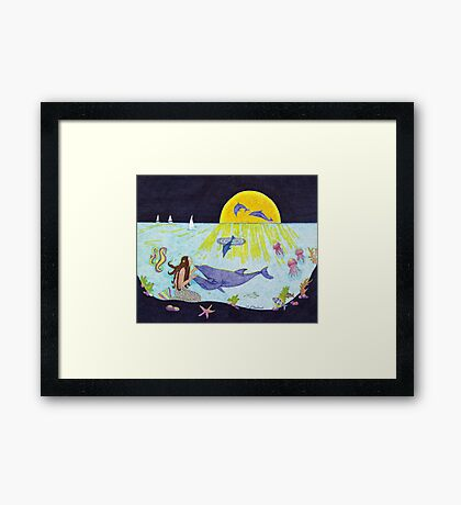 Moonlight Crossing III Framed Print
