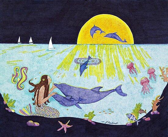 Moonlight Crossing III by Judy Newcomb