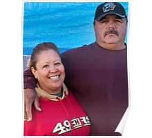 couple at the flea market Poster