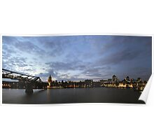 London, The City and St Paul's Cathedral Poster
