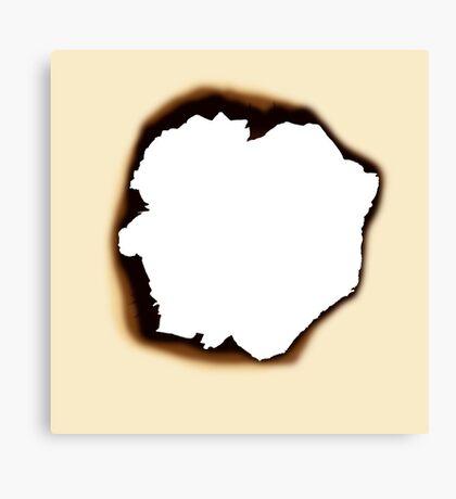 Burnt Hole Canvas Print