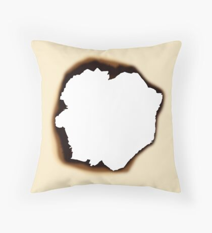 Burnt Hole Throw Pillow