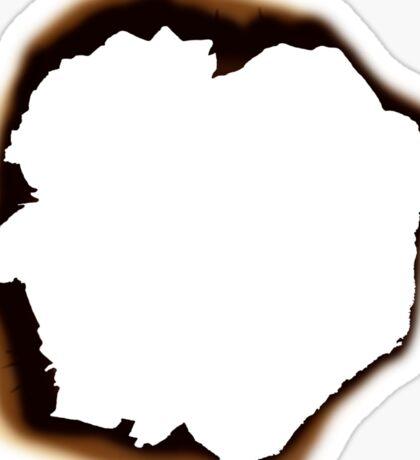Burnt Hole Sticker